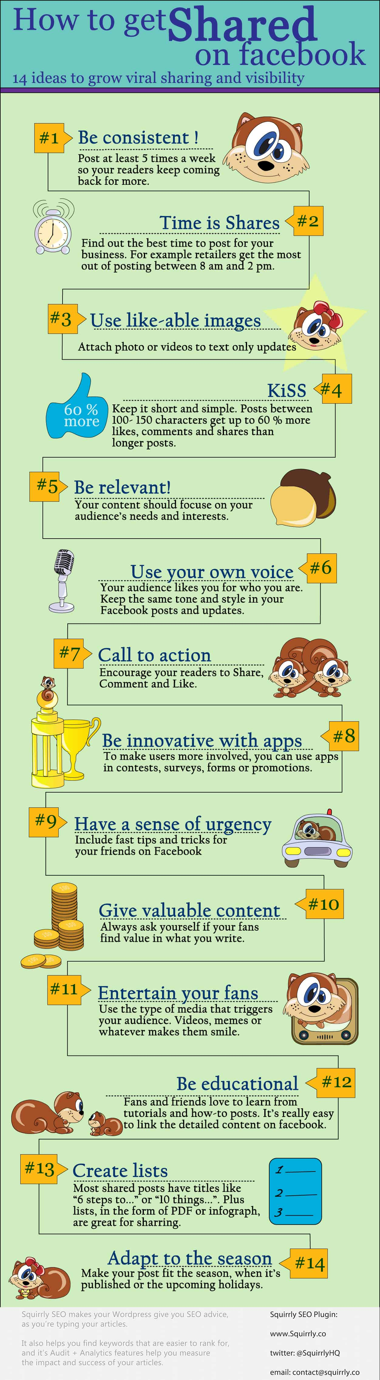 How To Get Shared On Facebook: 16 Ideas To Grow Viral Sharing And Visibility [infographic] - Boost your facebook page visibility and fan base.