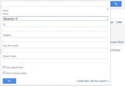 filtru gmail