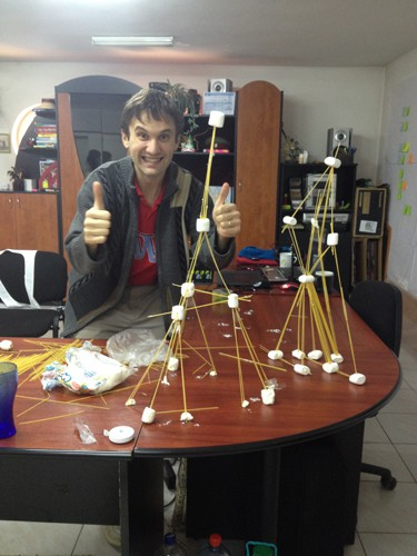 fun marshmallow challenge ted talk