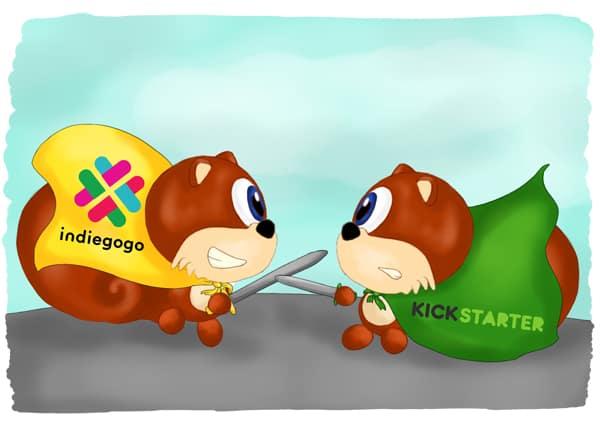 Kickstarter vs Indiegogo. The crowdfunding gunslingers.