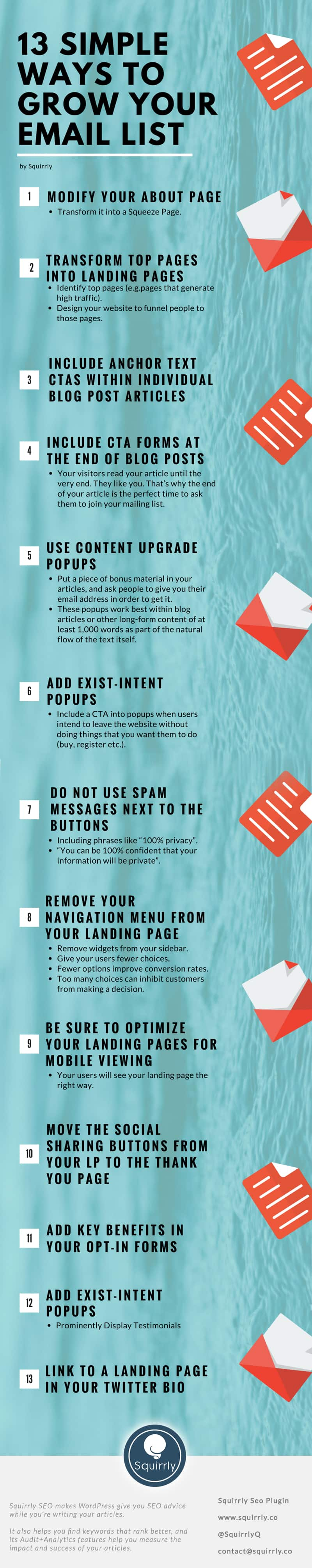 Grow your email list infographic