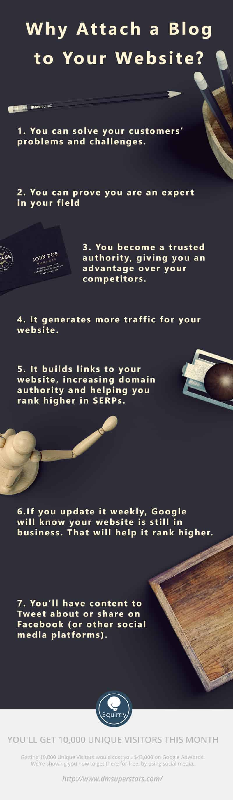 Why attach a blog to your website?