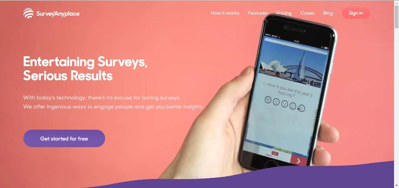 surveyanyplace - startup tools list