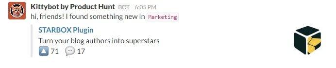 Starbox plugin Product hunt