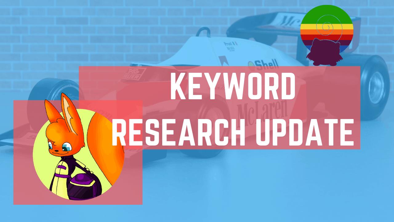 keyword research tool update